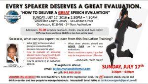Evaluation Training CHS July 17
