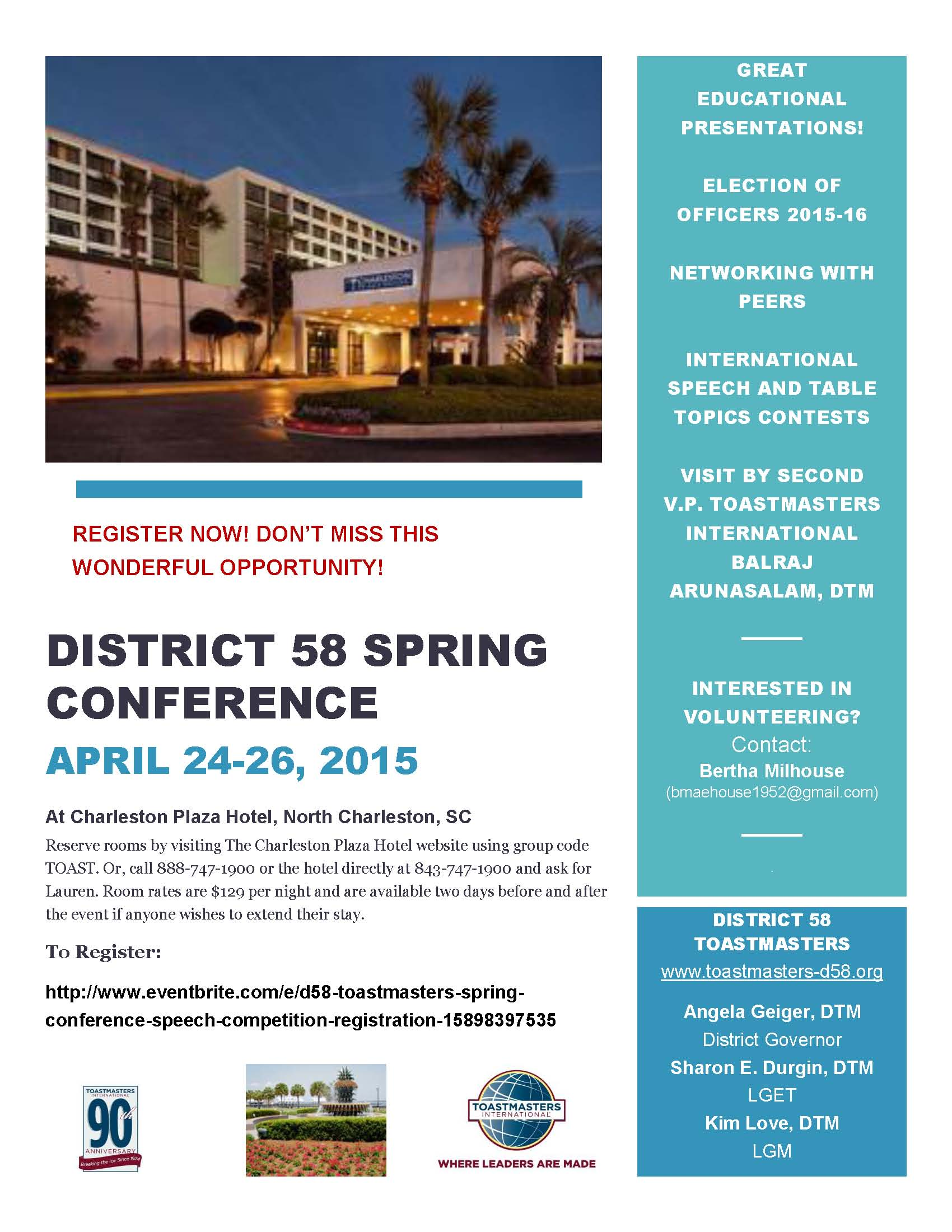 Breaking News — District 58 Toastmasters