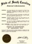 Governor Haley Proclaims a Year of District 58's 60th Anniversary