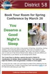 Book Your Spring Conference Hotel Room