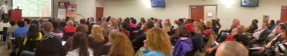 D58 members enjoying Ryan Avery's presentation