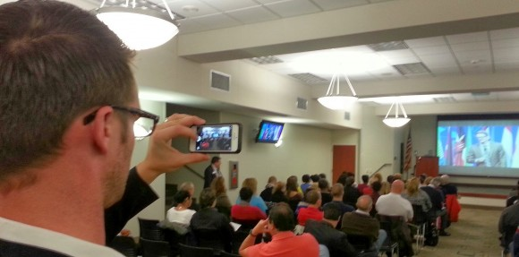 Ryan taking a photo of the D58 audience